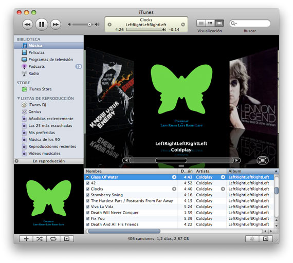 Colplay iTunes