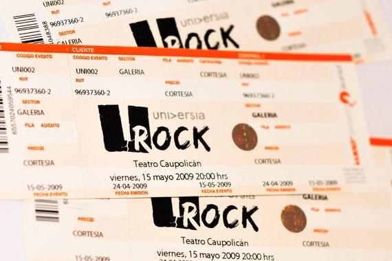 Entradas para el Universia U-Rock 3