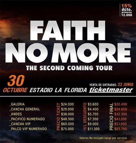 Faith No More en Chile