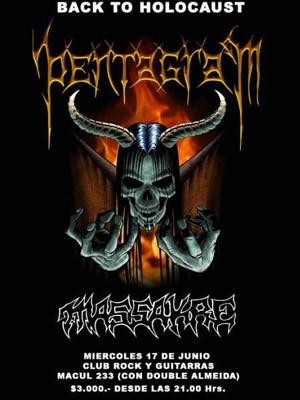 Afiche - Pentagram + Massakre @ Rock & Guitarras