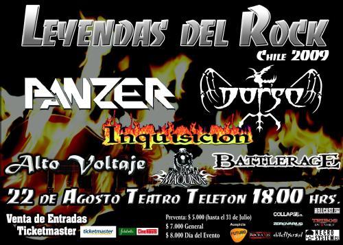 """Afiche del concierto """"Leyendas del Rock"""""""