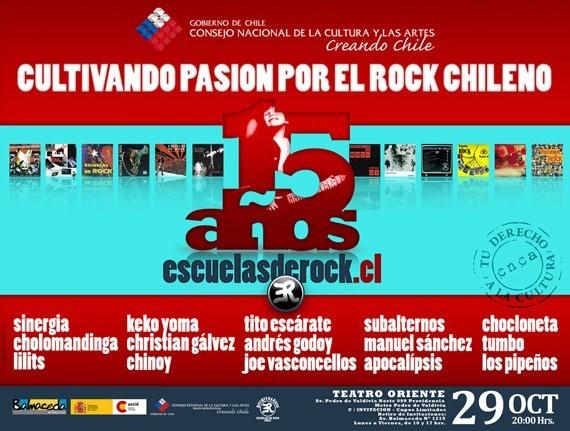 Escuelas de Rock celebran sus 15 años