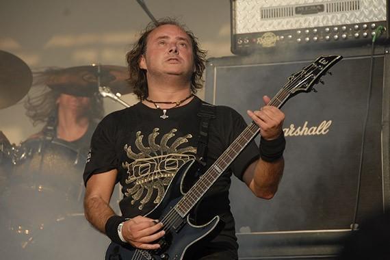 Juan Pablo Uribe, guitarrista de Pentagram | Fotógrafo: Metal Chris