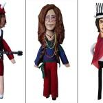 Angus Young - Janis Joplin - Mick Jagger | ©MEDIODESCOCIDO Art Dolls