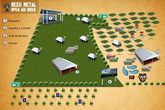 Beer Metal Open Air - Mapa