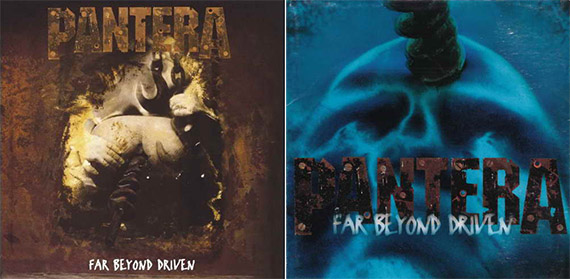 Las dos versiones de la portada de 'Far Beyond Driven'