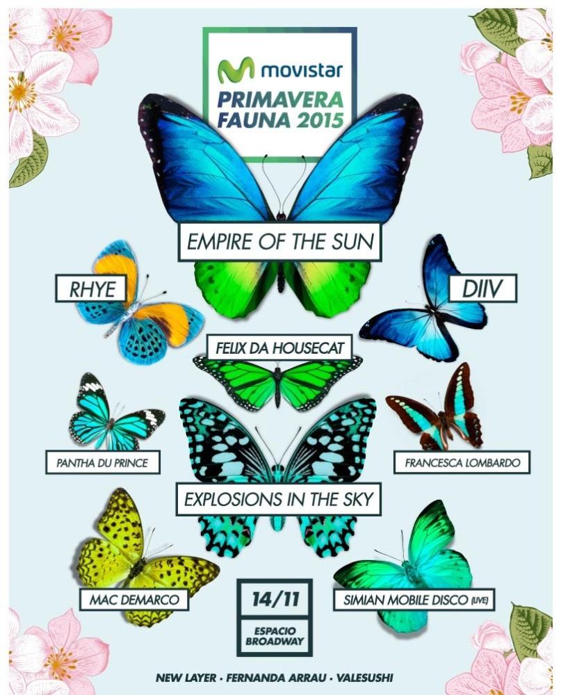Cartel de Primavera Fauna 2015