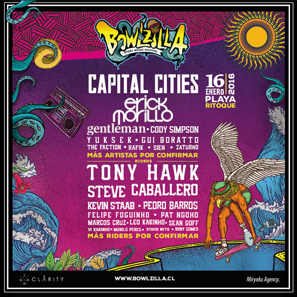 Cartel Bowlzilla Chile 2016