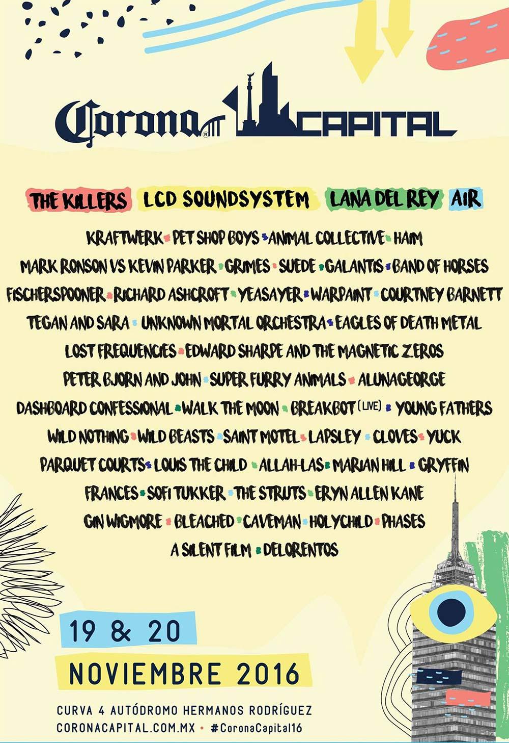 Corona Capital 2016 line up