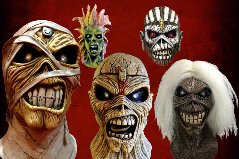 """Ya tenían cervezas y hasta un videojuego. Pero ahora, Iron Maiden se suma a la fiebre de Halloween con la puesta a la venta de máscaras con el rostro de su símbolo más conocido: Eddie.  Los británicos dieron la licencia oficial de la mascota a la empresa Trick or Treat Studios, especializada en disfraces, maquillaje, accesorios y otras atracciones. Cinco serán las versiones de Eddie que estarán disponibles, inspiradas en los diversos rostros que la figura ha tenido en la carrera de los hombres de """"The Trooper"""".  Cada una de las máscaras tiene un precio de 59 dólares (casi 40 mil pesos chilenos) y se pueden comprar en el sitio oficial de Trick or Treat Studios.  ¿Cuáles y cómo son las máscaras de Eddie? Revísalas en esta galería."""