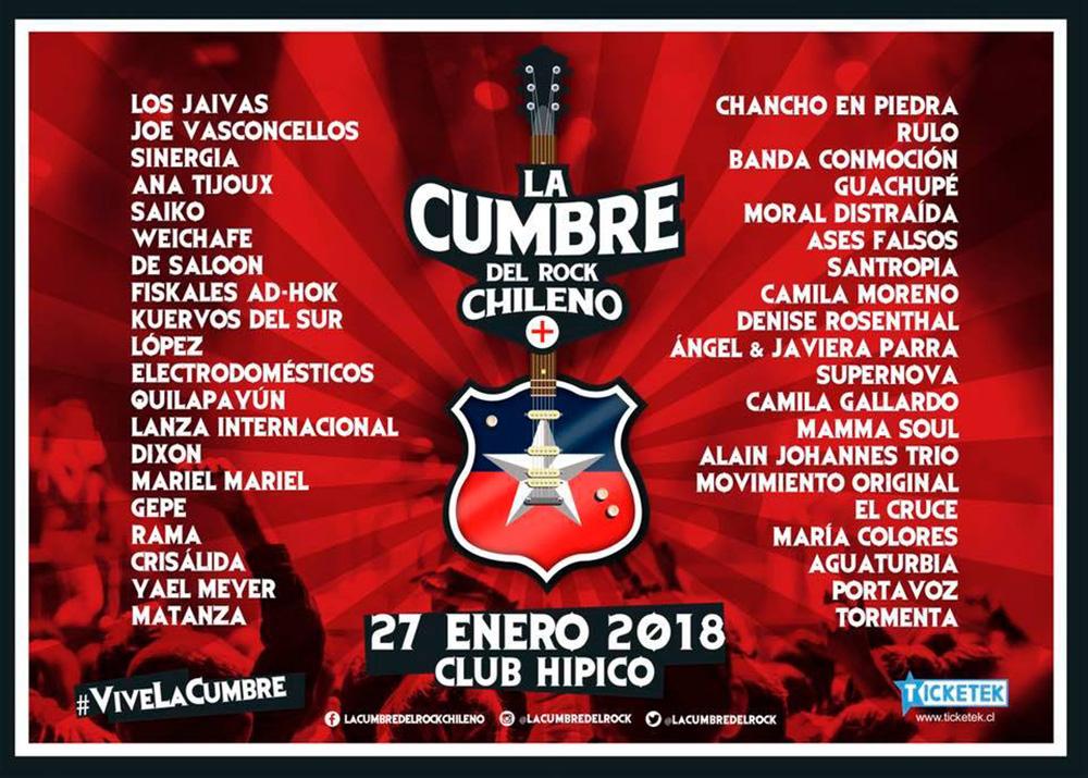 La Cumbre del Rock Chileno libera su cartel 2018