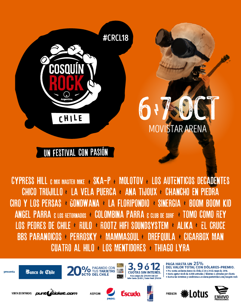 Cosquín Rock Chile 2018